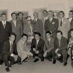 """Artisti ed intellettuali presso la galleria d'arte """"la Saletta"""" a Frosinone, 1961"""