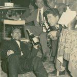 Michele Rosa durante una festa con amici, 1956
