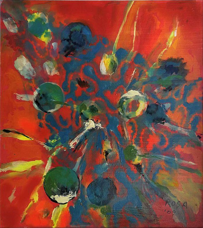 Eruzione virale, 2009 - 80 x 90 cm
