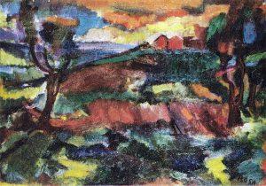 Paesaggio rurale, 1968 - 100x70 cm