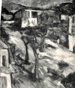 Paesaggio con case ed alberi, 1965
